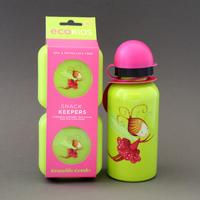 Lot deux boites à goûter et gourde enfants Fée Crocodile Creek sans BPA