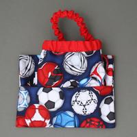 Serviette élastique de cantine enfants Football 2016 et sa pochette assortie Lilooka