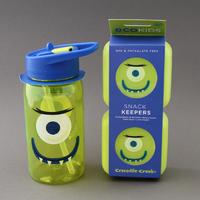 Lot grande gourde et deux boites sans BPA* Monstre assorties Crocodile Creek