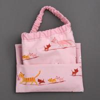 Serviette de cantine enfant élastique Les chatons et sa pochette assortie Lilooka