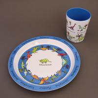 Lot assiette et verre Dinosaures Tyrrell Katz pour enfants