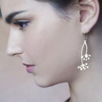 Boucles d'oreilles Hanabi plaquées or Shlomit Ofir