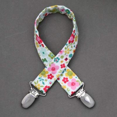 Attache doudou fleurs en tissu Mini Labo Lilooka
