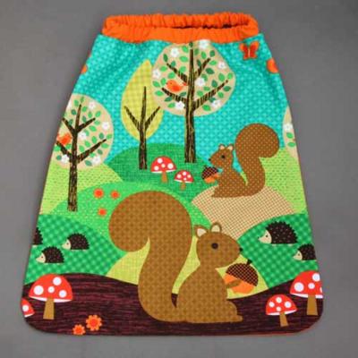 Serviette de table enfant élastiquée Les écureuils Lilooka