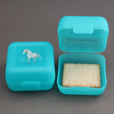 2 petites boites à goûter sans BPA Cheval