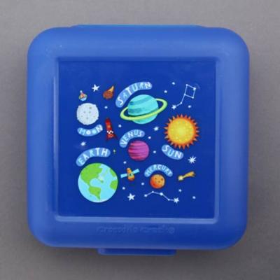 Boîte à goûter Planètes Crocodile Creek bleu sans BPA