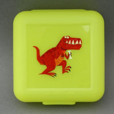 Boîte à goûter T-Rex Crocodile Creek verte sans BPA