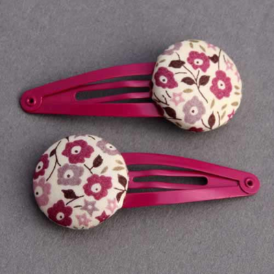 Duo de barrettes filles Liberty Fairford prune