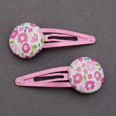 Duo de barrettes Liberty Fairford rose