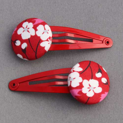 Duo de barrettes Liberty Mitsi rouge