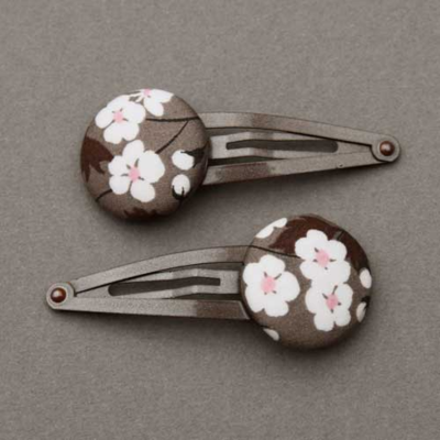 Duo de barrettes enfants Liberty Mitsi taupe