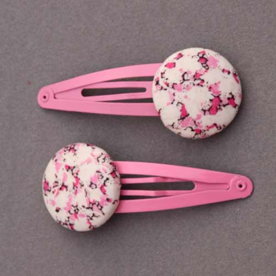 Duo de barrettes enfants Liberty Pablo pepper