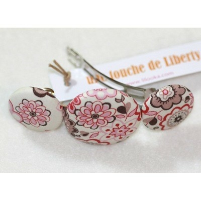 Grande barrette Liberty Lauren rose Lilooka