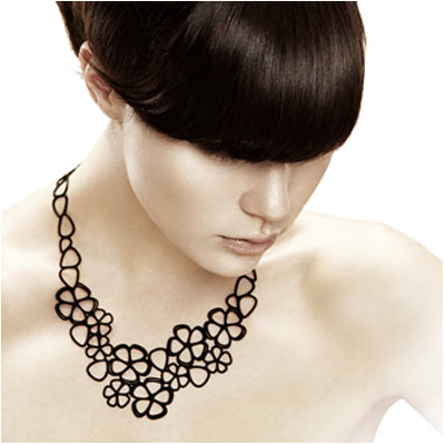 Collier Sweet flowers Batucada noir