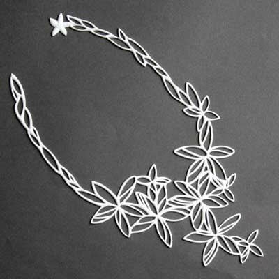 Collier Hawai Batucada blanc