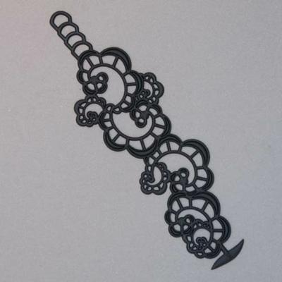 Bracelet Japanese flower Batucada noir