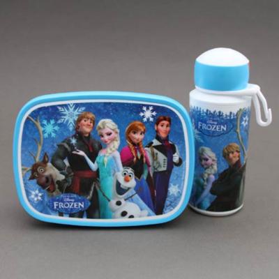 Lot gourde et boite déjeuner - goûter enfant Reine des neiges sans BPA Rosti Mepal