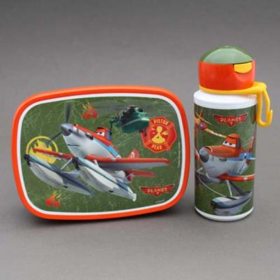 Lot gourde et boite déjeuner - goûter enfant Planes sans BPA Rosti Mepal