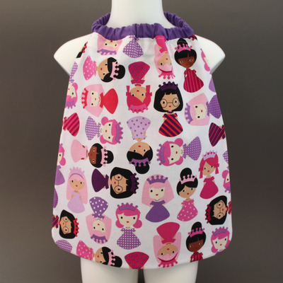 serviette_table_enfants_cou_elastique_princesses_violettes_3