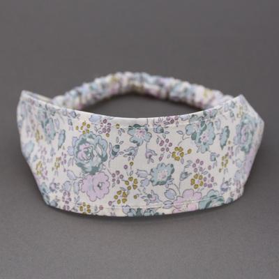 Bandeau cheveux en tissu Liberty Felicite lilas