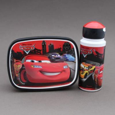 Lot gourde et boite déjeuner - goûter enfant Cars sans BPA Rosti Mepal