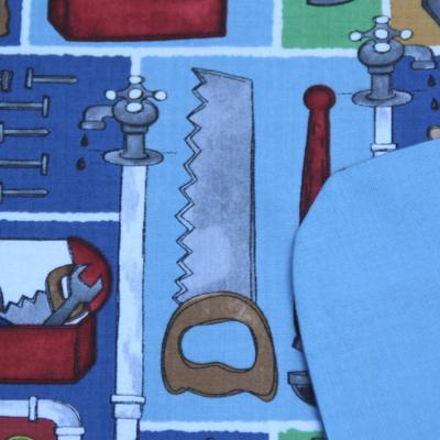 Serviette de cantine enfant lastique les outils lilooka - Serviette de table pour cantine ...