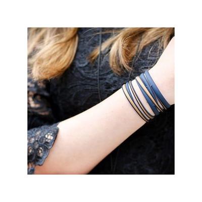 Bracelet Swell bleu foncé et or Batucada