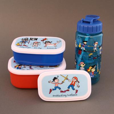 Lot boites à goûter - déjeuner et gourde Pirates sans BPA Tyrrell Katz enfants