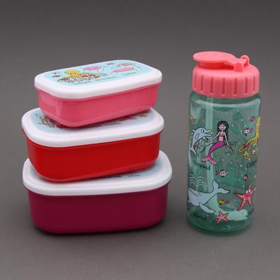 Lot 3 boites à goûter - déjeuner et gourde Sirènes sans BPA Tyrrell Katz enfants