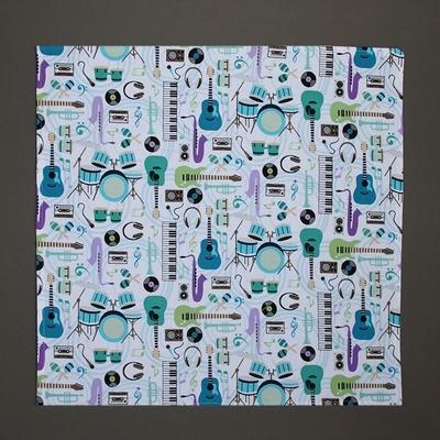 Grande serviette de table enfants Musique Lilooka