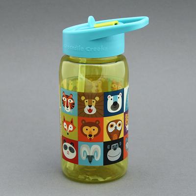 Gourde + paille sans BPA Animaux