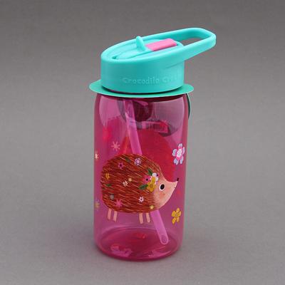 Gourde + paille sans BPA Hérisson