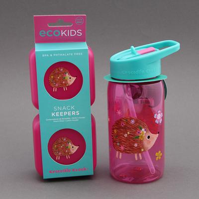Lot gourde + deux boites à goûter sans BPA Hérisson