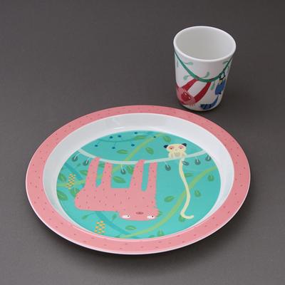 Lot verre et assiette Jungle Petit jour Paris Enfants