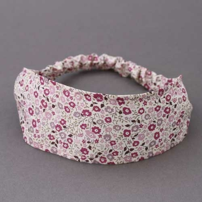 Bandeau cheveux enfant en Liberty Fairford prune