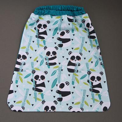 Serviette de cantine enfant élastique Les pandas