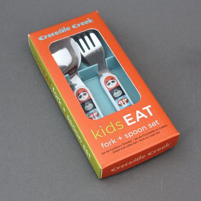 Set fourchette et cuillère Animaux pour enfant sans BPA.