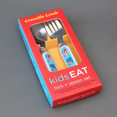 Set fourchette et cuillère Véhicules pour enfant sans BPA