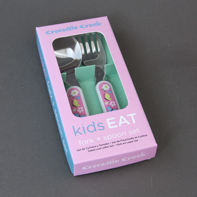 Set fourchette et cuillère sans BPA  pour enfant Lapin et Cie