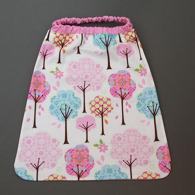 Serviette de table enfants élastique Forêt rose Lilooka
