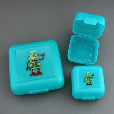 Lot grande et 2 petites boîtes robots Crocodile Creek sans BPA