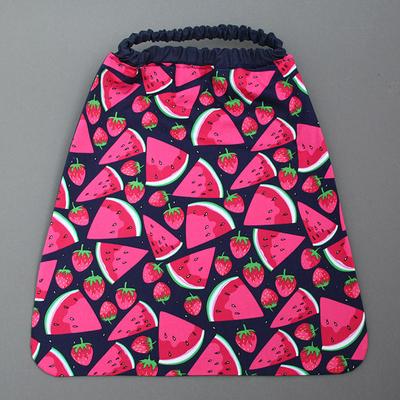 Serviette de cantine enfant élastique Pastèques et fraises- Lilooka