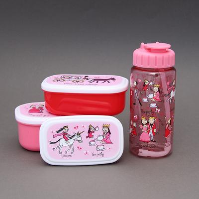 Lot boites à goûter - déjeuner + gourde sans BPA Princesses