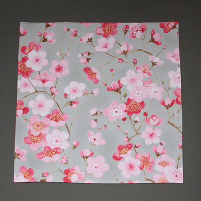 Grande serviette de table enfants Fleurs de cerisier - Lilooka