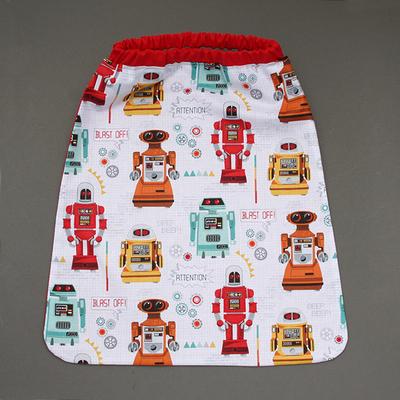 Serviette de cantine enfants élastique Les robots - Lilooka