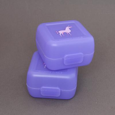 Deux petites boites à goûter sans BPA  Licorne