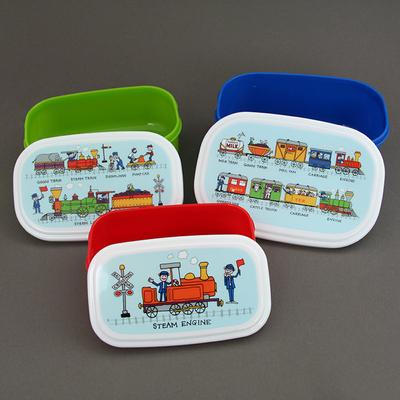 Lot 3 boites à goûter ou déjeuner enfants sans BPA Trains - Tyrrell Katz