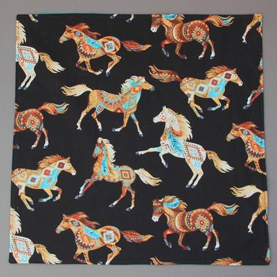 Grande serviette de table enfants Les chevaux