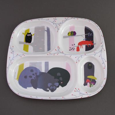 Assiette à compartiments bébé Animaux de la forêt
