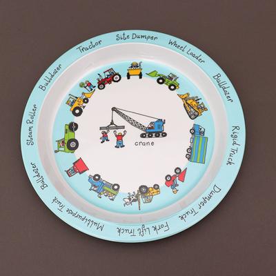 Assiette pour enfant Engins et camions